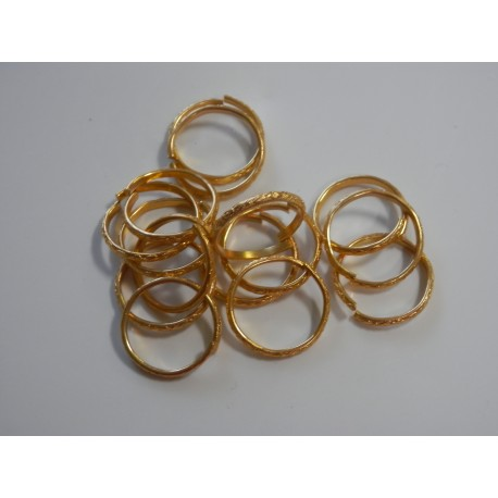 Prstienky medeno-zlaté