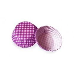 Košíčky muffin - fialové kárované