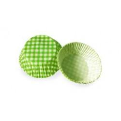 Košíčky muffin - zelené kárované