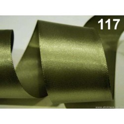 Atlasová stuha - zelená 4,0cm